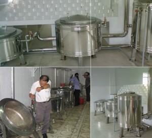 Bộ nồi nấu cơm công nghiệp