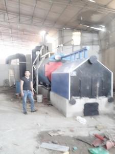 Chế tạo buồng đốt phụ và lắp đặt nồi hơi 4 tấn