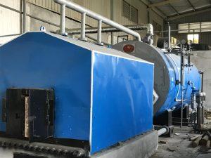 Lò hơi 7000 kg/h lắp đặt tại công ty giặt là