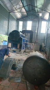 Chế tạo và lắp đặt hệ thống Lò hơi 2500 kg/h  cho xưởng sấy miến
