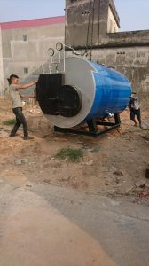 Lò hơi 1500 kg/h đã qua sử dụng lắp đặt tại xưởng giăt gia lâm