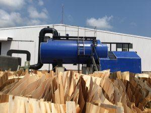 Nồi hơi 5 tấn lắp đặt tại công ty gỗ Quảng Bình