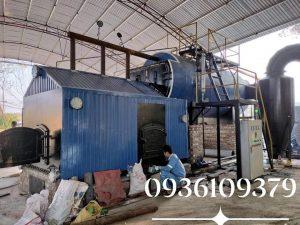 Nồi hơi  5 tấn đốt rác , củi vụn lắp đặt tại Thanh Sơn, Phú Thọ